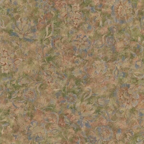 Burgundy Floral Texture Wallpaper