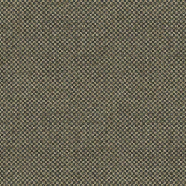 Blue and Beige Checkered Fabric Wallpaper