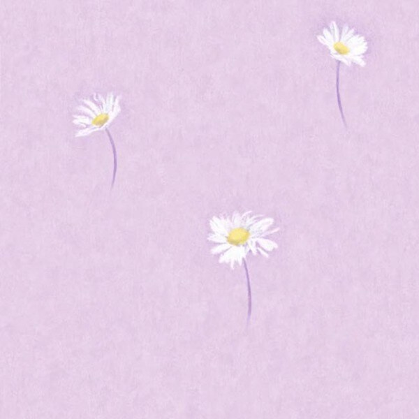 Lavender Daisy Toss Wallpaper
