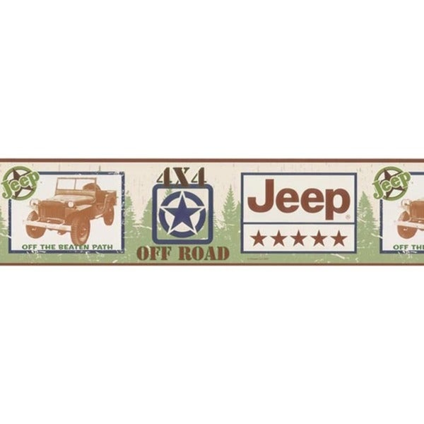 Red Jeep Wallpaper Border
