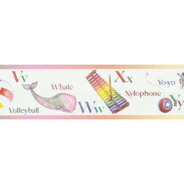 Multicolor ABC Wallpaper Border