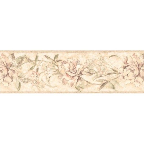 Cream Peony Wallpaper Border