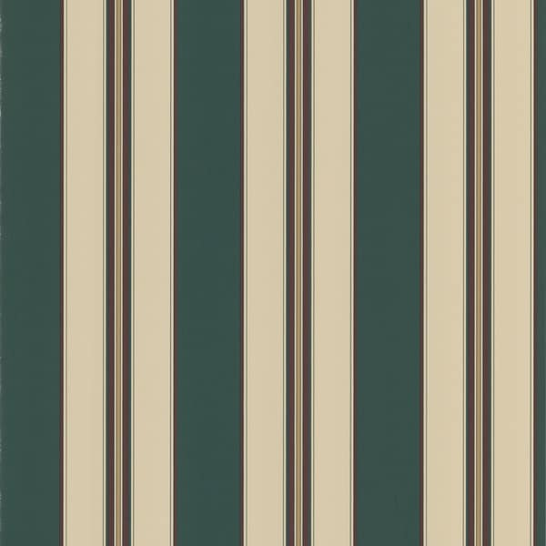 Dark Green Stripes Wallpaper