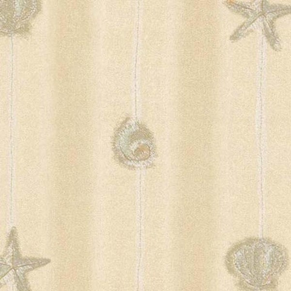 Beige Shell & Starfish Wallpaper