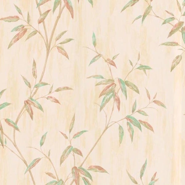 Beige Bamboo Leaves Wallpaper