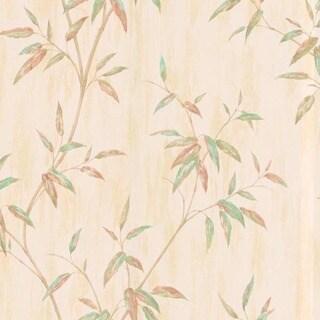 Beige Bamboo Leaves Wallpaper