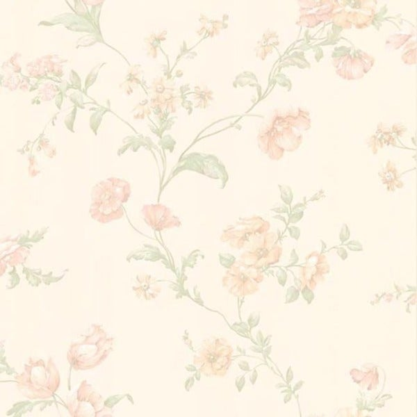 Blush Floral Trail Wallpaper