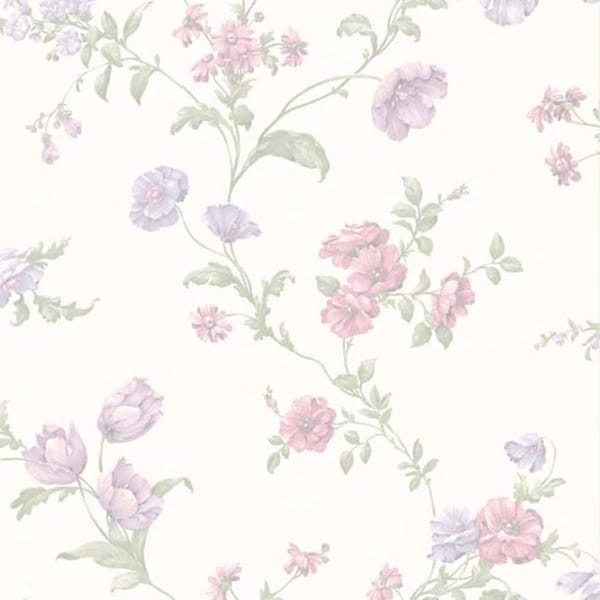 Lavender Floral Trail Wallpaper
