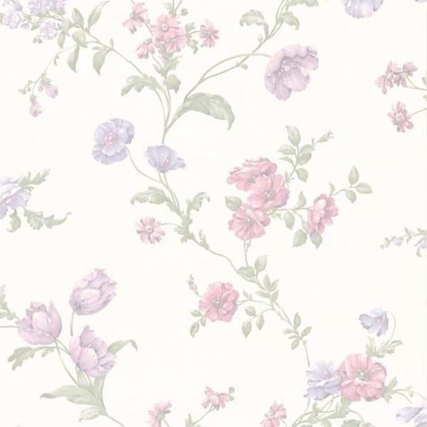 Lavender Floral Trail Wallpaper