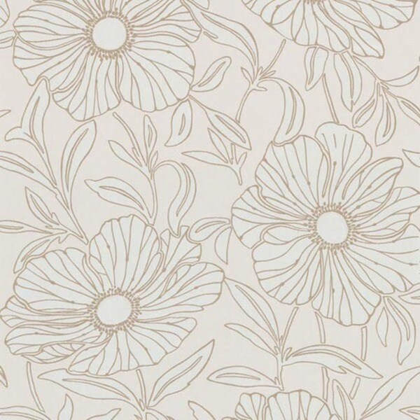 Pearl Modern Floral Wallpaper