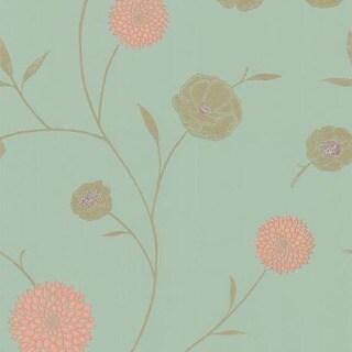 Mint Floral Trail Wallpaper