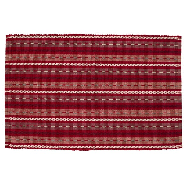 Candy Cane Rectangle Placemats (Set of 4)