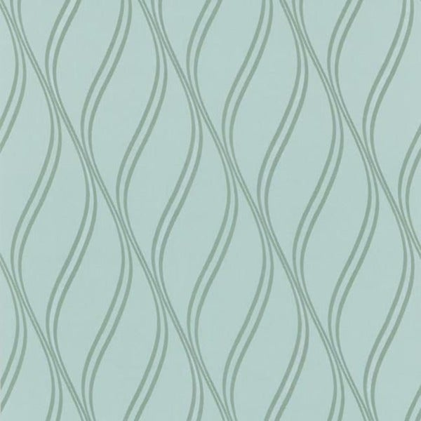 Turquoise Geometric Swirl Wallpaper