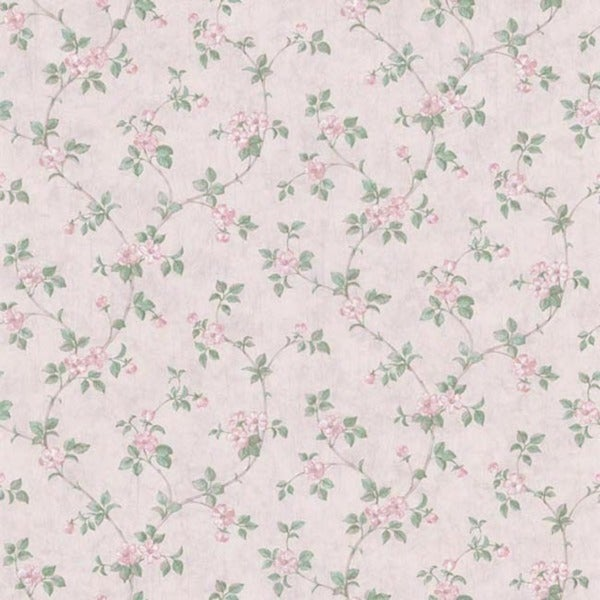 Pink Floral Trail Wallpaper