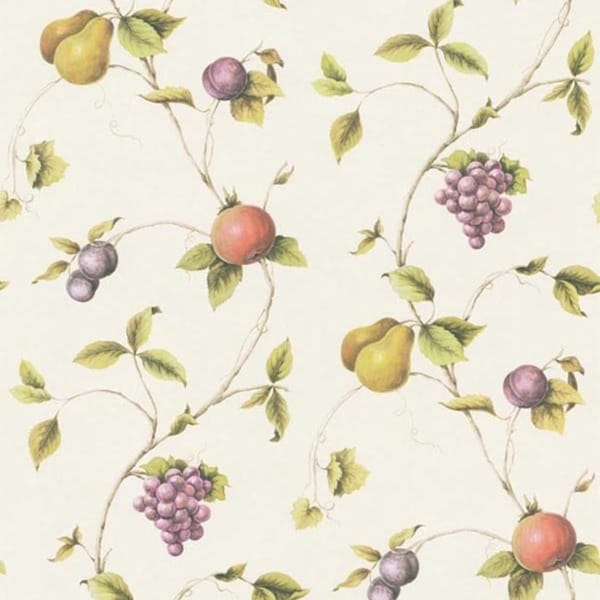 Cream Fruit Trail Wallpaper