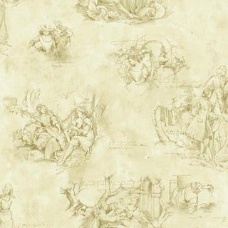 Sand Toile Wallpaper