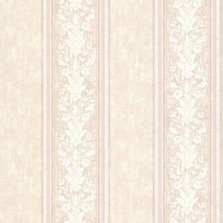 Blush Floral Stripe Wallpaper