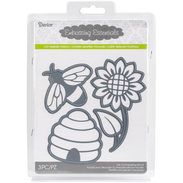 Darice Embossing Essentials DiesBee, Honeycomb, Flower