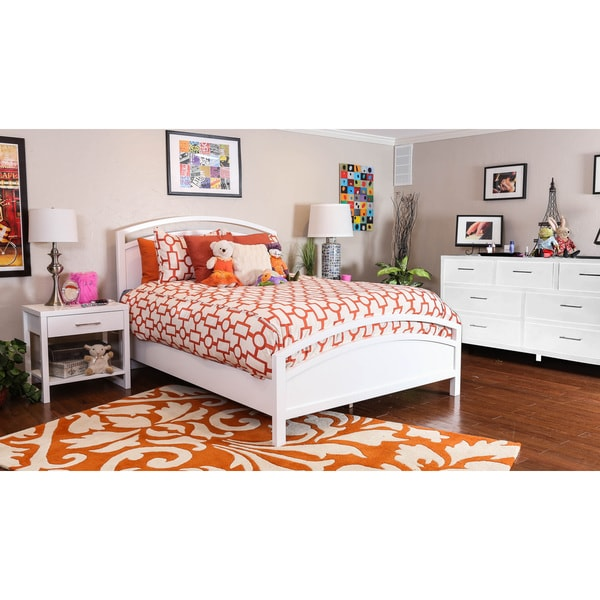Somette Estelle Pure White Arched King Bed