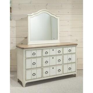 Panama Jack Millbrook 9-drawer Dresser and Buttermilk Landscape Mirror