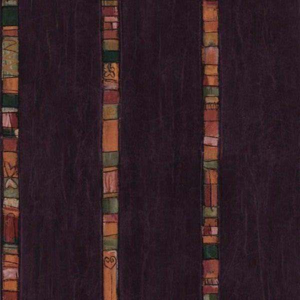 Purple Art Stripe Wallpaper