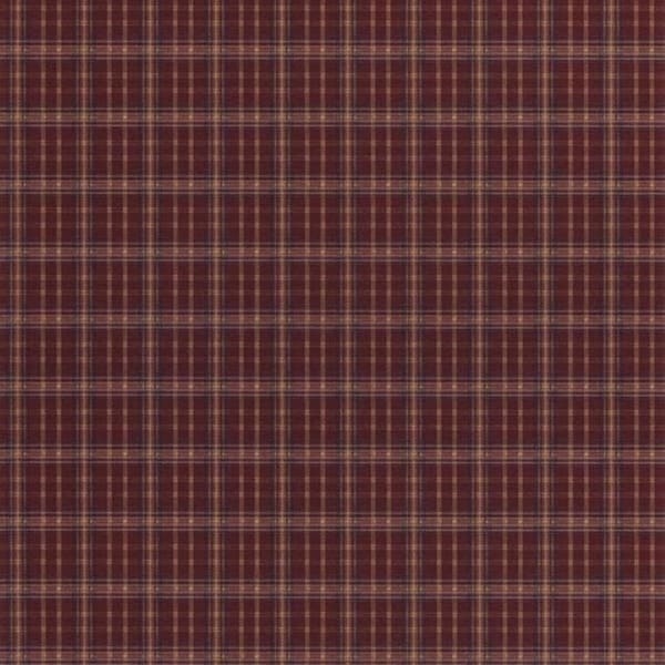 Red Farmhouse Plaid Wallpaper