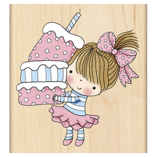 Penny Black Mounted Rubber Stamp 3inX3.25inCupcake Mimi
