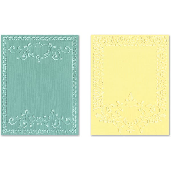 Sizzix Textured Impressions A2 Embossing Folders 2/PkgOrnate Frames