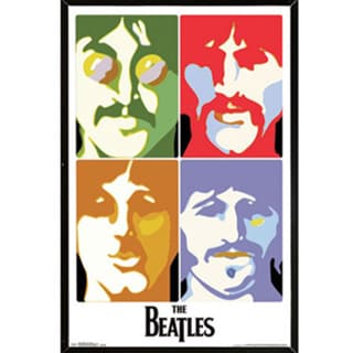 The Beatles Sea of Science Poster (22-inch x 34-inch) on Plaque or Woodmount