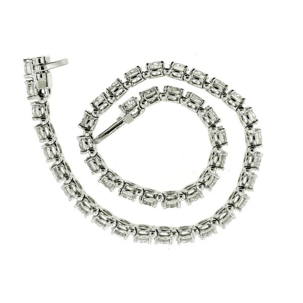 14k White Gold 10ct TDW Certified Diamond Tennis Bracelet (E-F, SI2-I1)