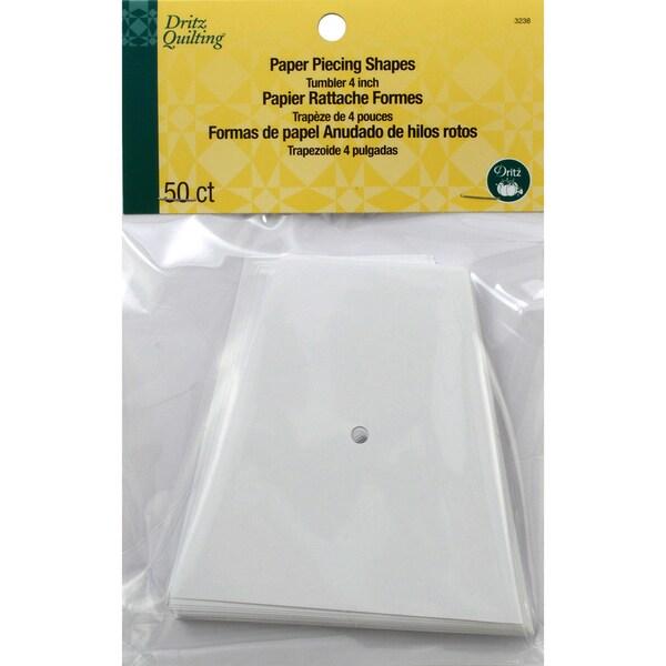 Dritz Quilting Paper Piecing Tumbler4in 50/Pkg