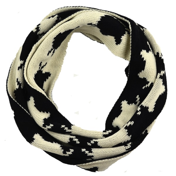 Black and White Purr-fect Infiniti Knit Scarf