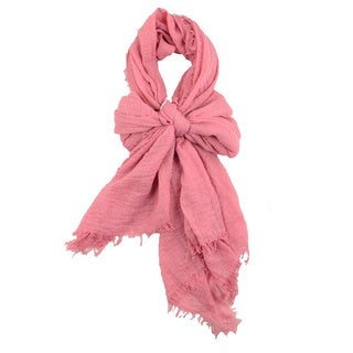 Solid Color Crinkle Scarf