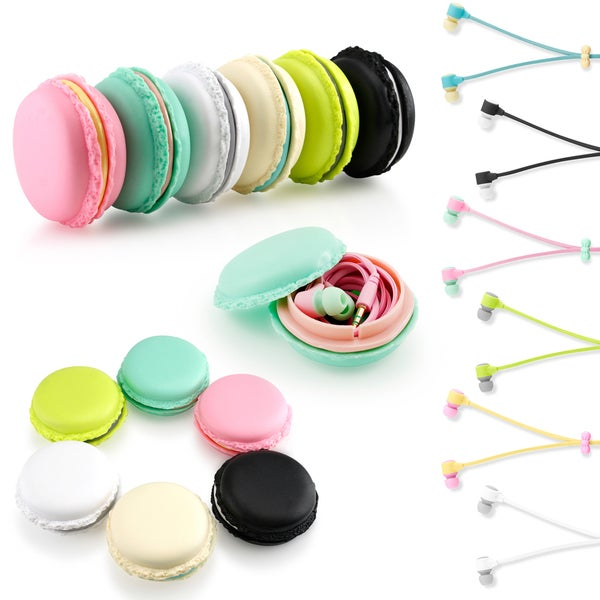 Gearonic Stereo 3.5mm In Ear Earphones Earbuds Headset with Macaroon Case
