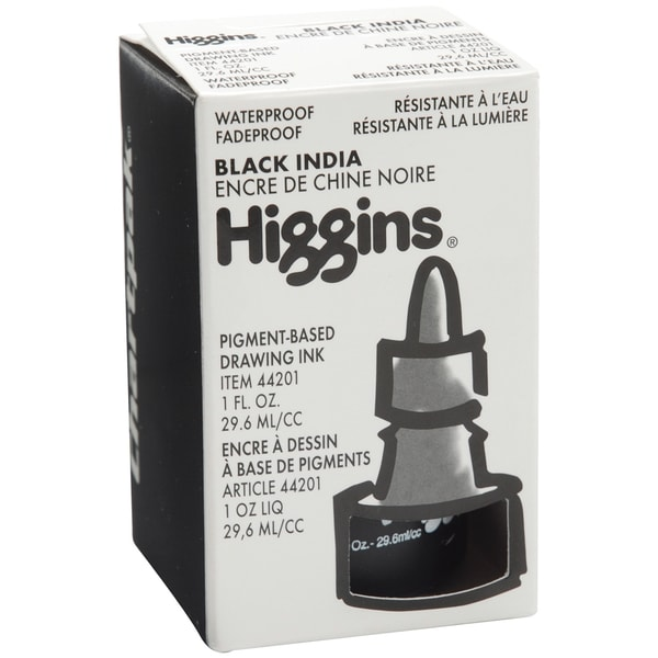 Higgins India Ink 1ozMatte Black