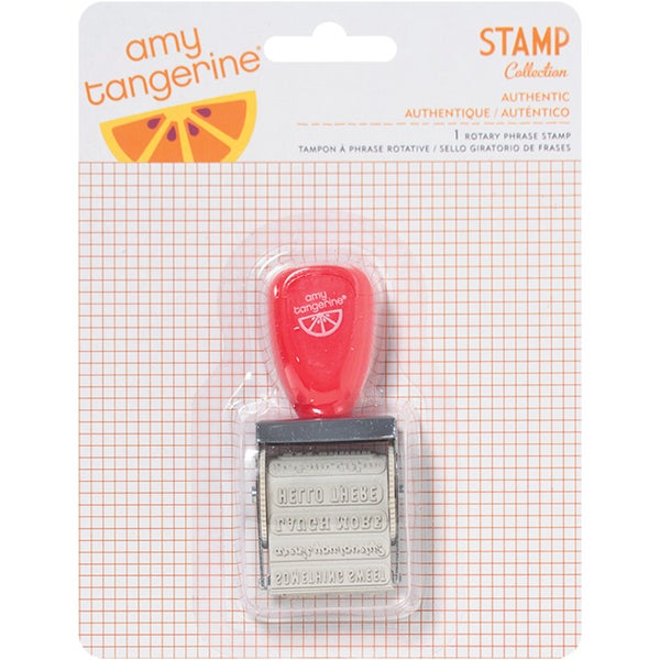 Amy Tangerine Yes Please Roller Stamp12 Phrases