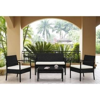 Beliani Wicker Garden Furniture - Tivoli 4-piece Conversation Set