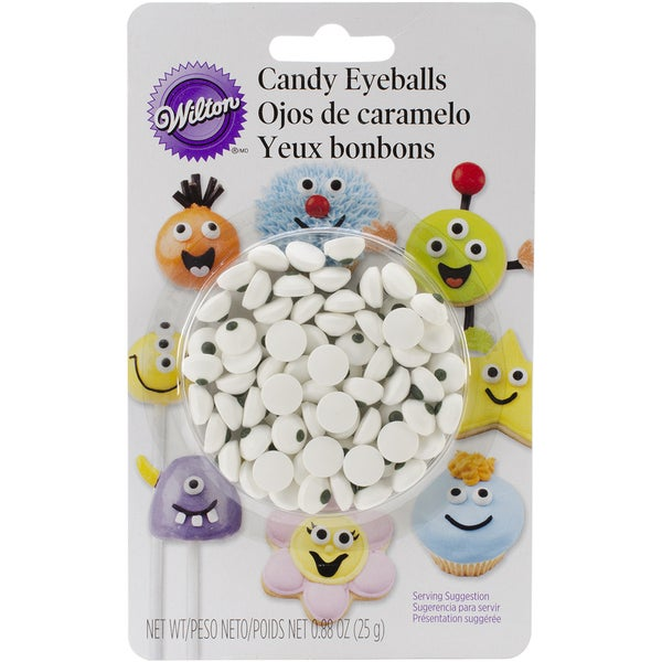 Candy Decorations 50/PkgWhite Eyeballs