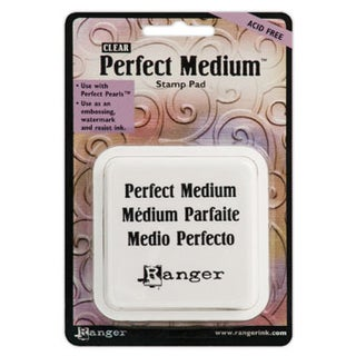 Perfect Medium Stamp Pad 3inX3inClear
