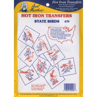 Aunt Martha'a IronOn Transfer Collection50 State Birds