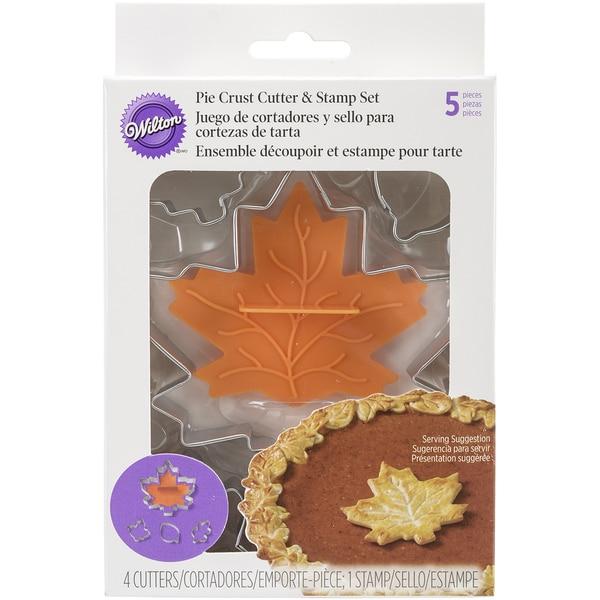 Cookie Cutter & Stamp Set 5pcsLeaf