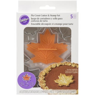Cookie Cutter & Stamp Set 5pcsLeaf