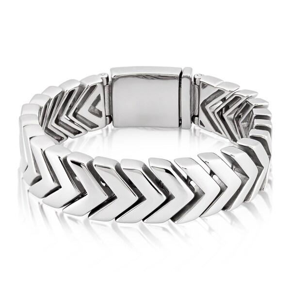 Crucible Stainless Steel Chevron Link Bracelet 16254994