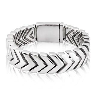 Crucible Stainless Steel Chevron Link Bracelet