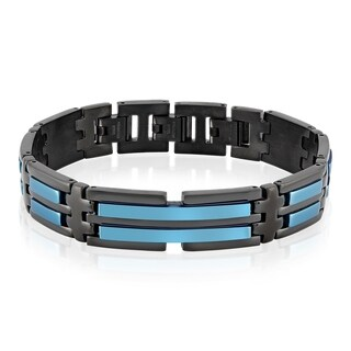 Crucible Two-Tone Stainless Steel ID Link Bracelet