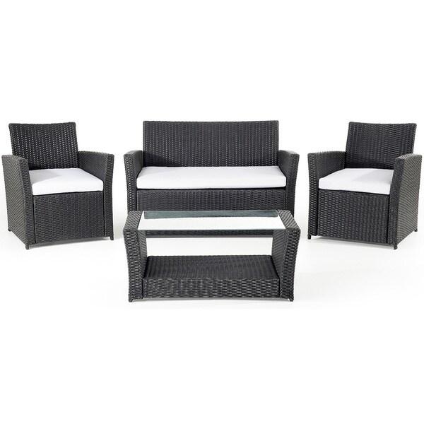 Beliani Wicker Patio Furniture Sorrento 4-piece Set