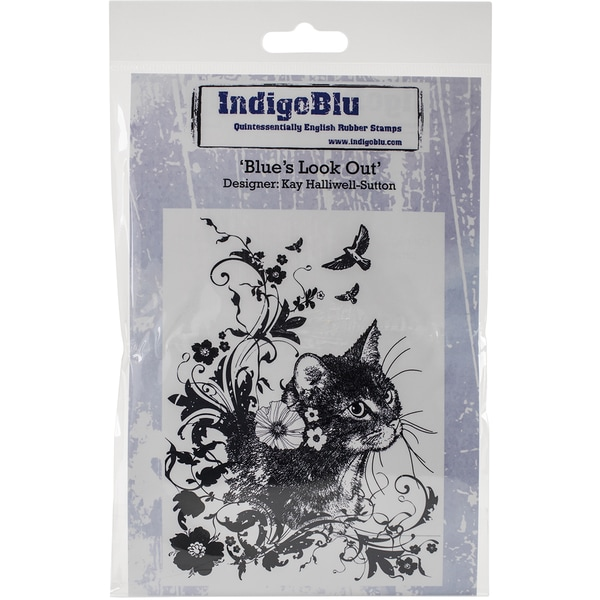IndigoBlu Cling Mounted Stamp 5inX4inBlues Look Out