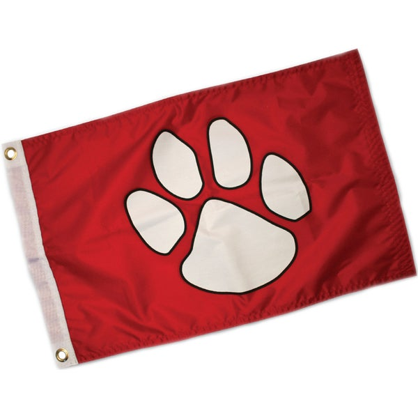 Paw Print Flag 12inX18in