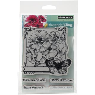 Penny Black Cling Rubber Stamp 5inX6.5in SheetCollage Of Wishes
