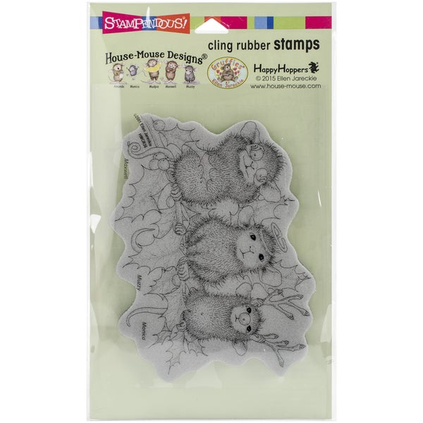 Stampendous House Mouse Cling Rubber Stamp 7.75inX4.5in SheetChristmas Characters